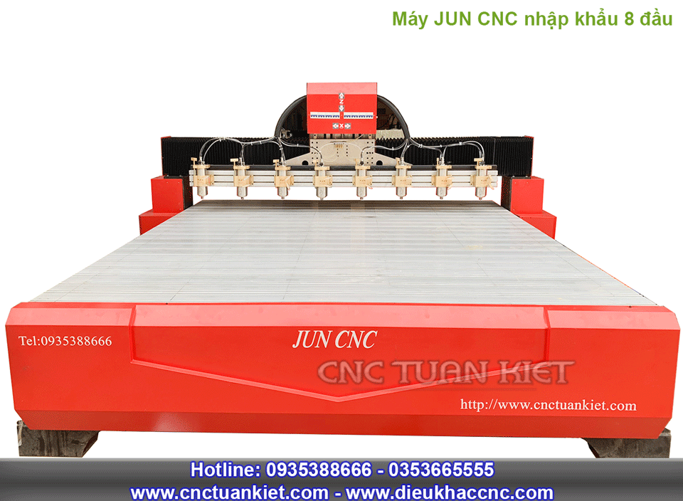 Máy JUN CNC nhập khẩu nguyên chiếc 8 đầu khắc