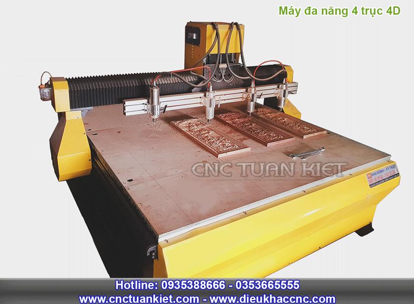 Máy đục gỗ CNC 4 trục 4D