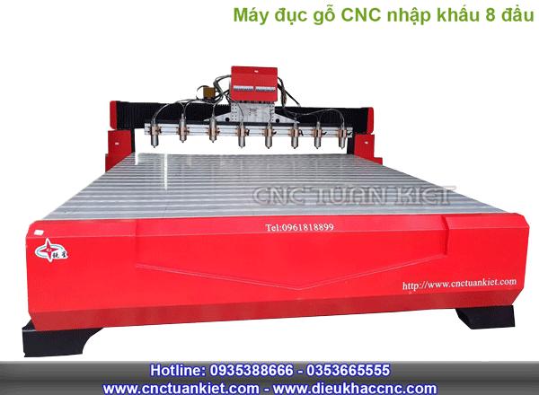Máy điêu đục CNC nhập khẩu 8 đầu