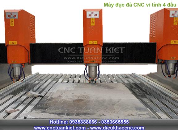 Máy đục đá CNC 4 đầu