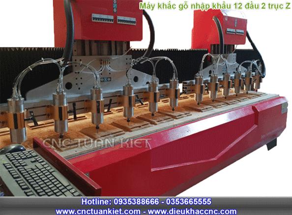 Máy đục vi tính nhập khẩu 12 đầu 2 trục Z
