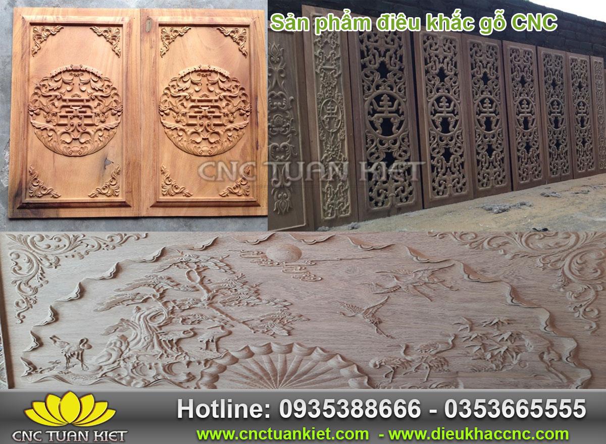 Sản phẩm điêu khắc gỗ CNC Tuấn Kiệt