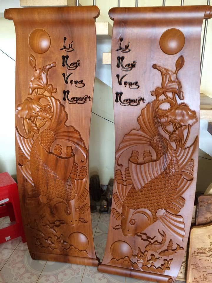 Máy đục gỗ 8 đầu khắc CNC J2325-8 có khả năng đục những bức phù điêu trên gỗ