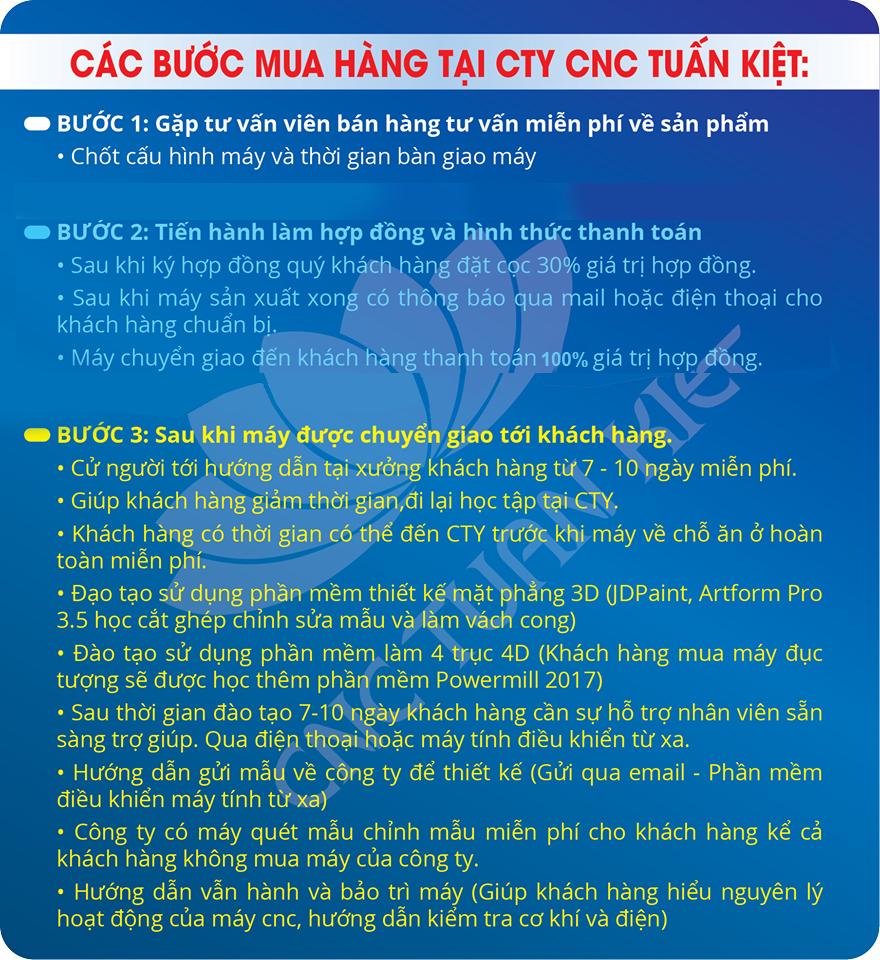 Các bước mua máy tại CNC Tuấn Kiệt