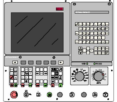 Hình ảnh minh họa sơ đồ bảng điều khiển của máy CNC Fanuc
