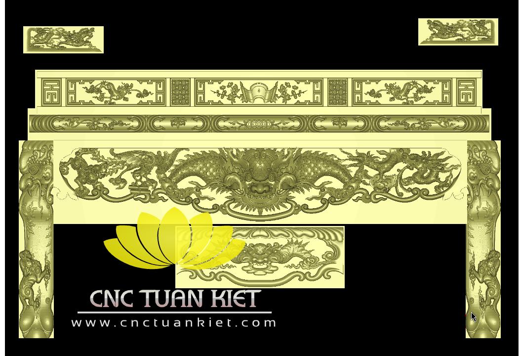 Mẫu CNC Hổ Phù Tứ Linh