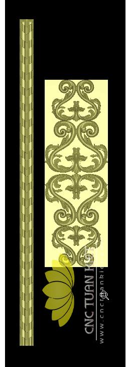 Mẫu CNC Hoa Lá Tây Cột