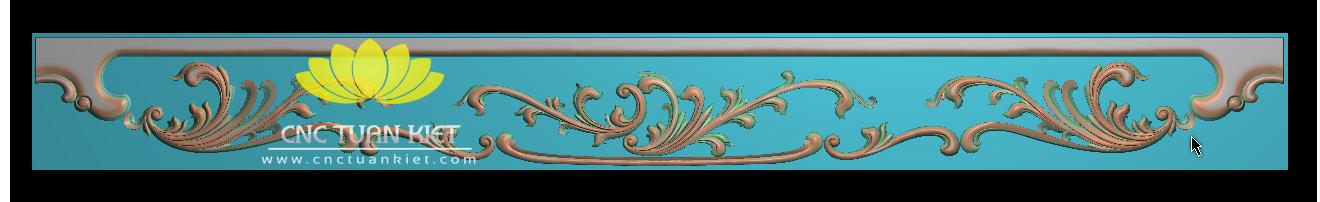 Mẫu CNC Hoa lá tây triện tủ