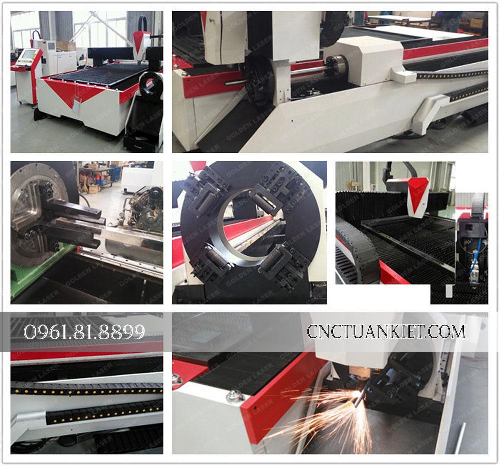 Máy cắt kim loại laser fiber GF-1530T có khả năng cắt kim loại cực tốt với tia laser fiber