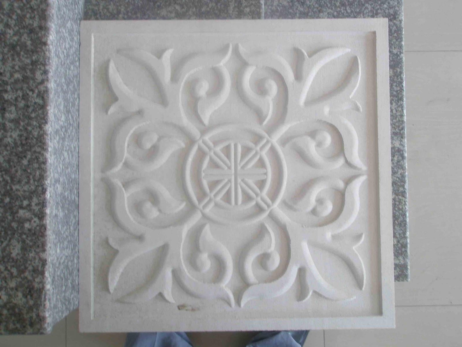Gạch hoa văn trang trí được khắc từ máy khắc Thạch cao