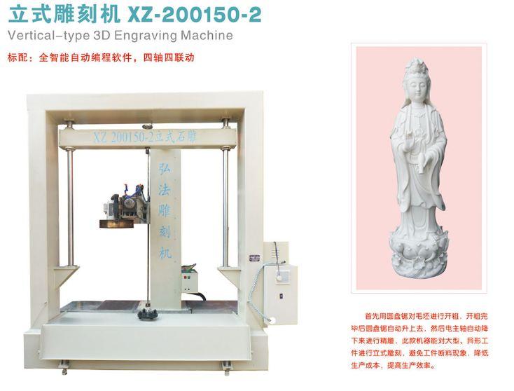 Máy CNC khắc đá XZ-200150-2 với 2 đầu khắc đa chức năng