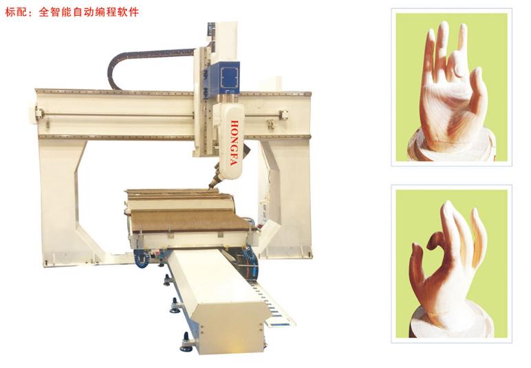 Hình ảnh máy cnc đục gỗ 3D 1 đầu HongFa