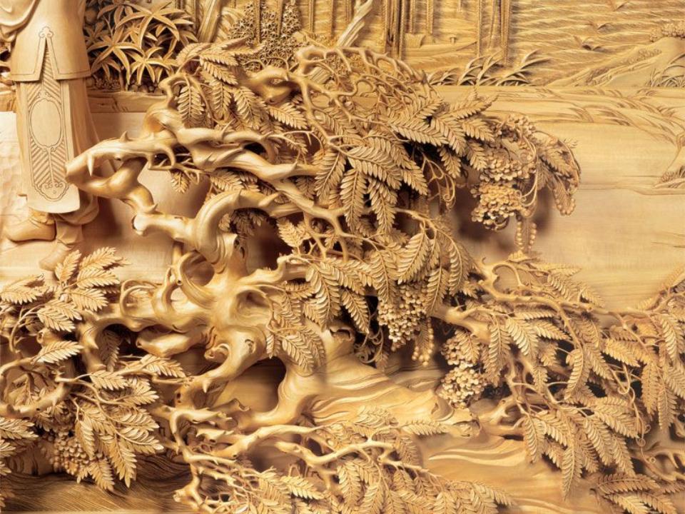 Sản phẩm khắc gỗ 4D bằng máy CNC