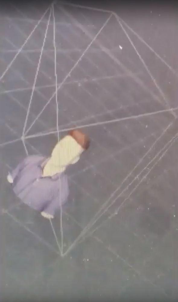 Hình ảnh scan 3D người thật được cắt từ clip
