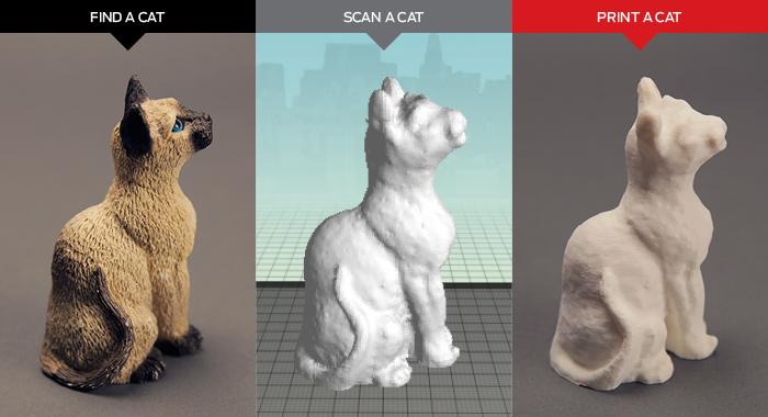 Hình ảnh diễn tả quá trình scan 3D tượng đến khi hoàn thành