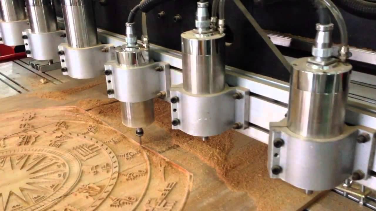 Máy khắc gỗ CNC 3 đầu trục