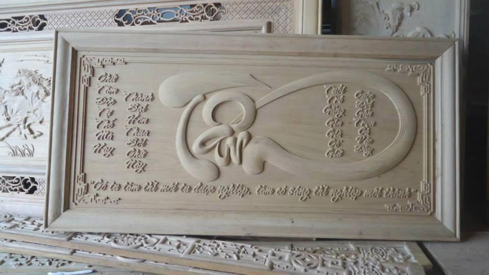 Đục khắc gỗ bằng máy đục gỗ CNC theo yêu cầu
